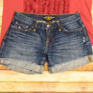 Lucky Brand Riley Cut Off Jean Shorts 2/26